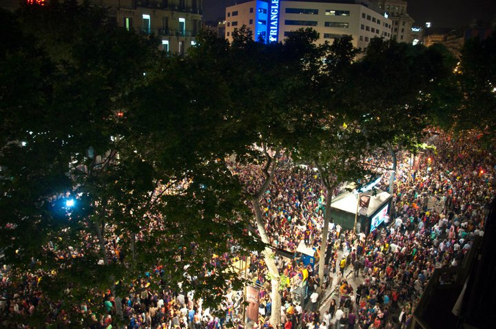 Las Ramblas after Barca's Win
