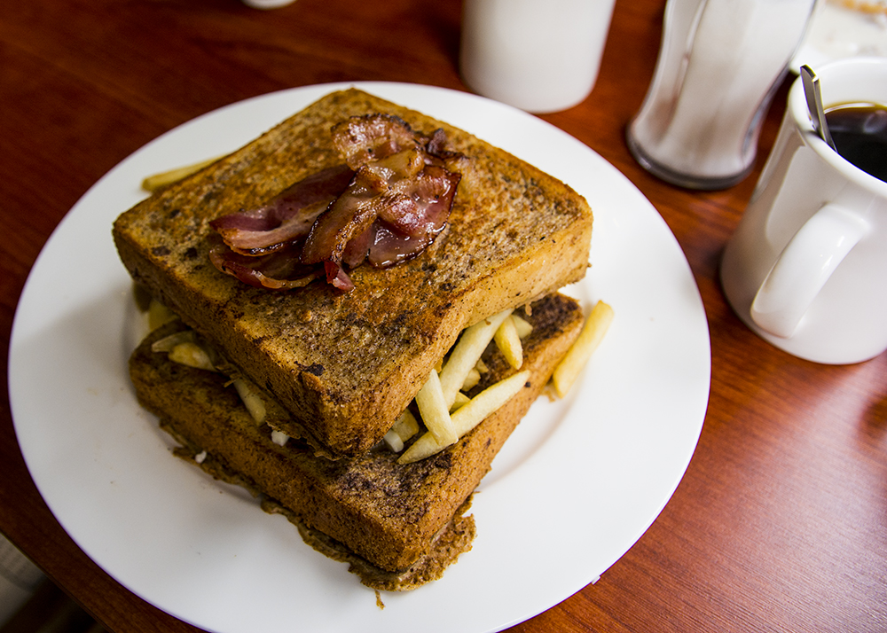 French Toast stuffed with Poutine