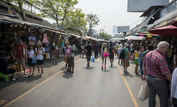 weekend market in Bangkok thailand