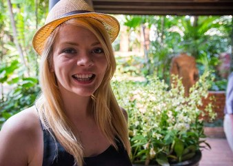 Nicole at the Jim Thompson House