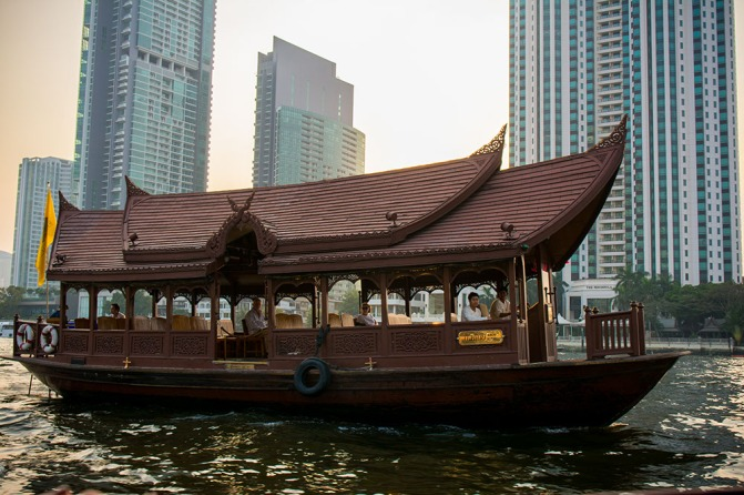 A boat on the river Chao Phraya