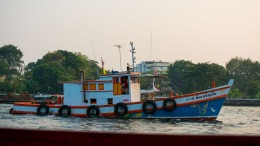 A tugboat on the river Chao Phraya