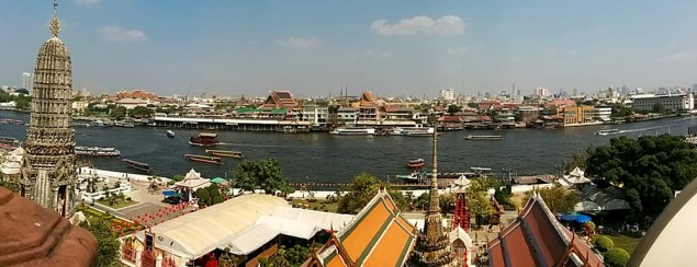 The view from the top of Wat Arun