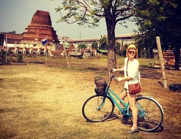 Nicole modeling her sweet bike