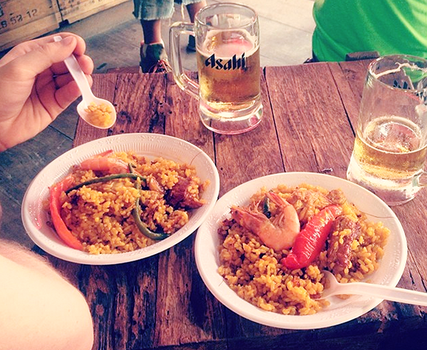 Paella in the Weekend Market