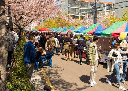 Food vendors along the Environment Eco-park