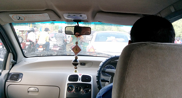 Our taxi to the airport