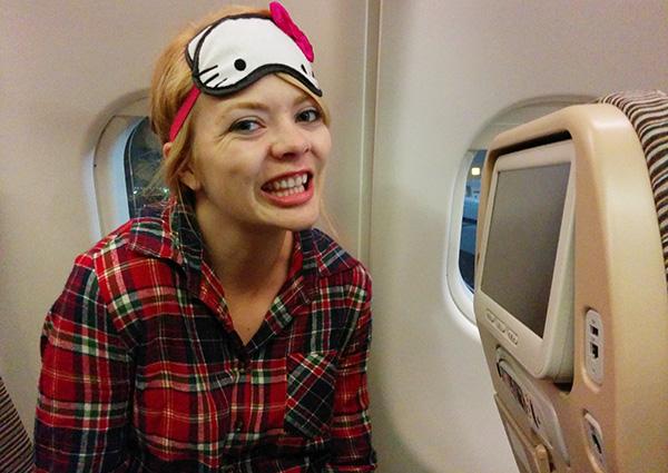 Nicole on Etihad to Abu Dhabi