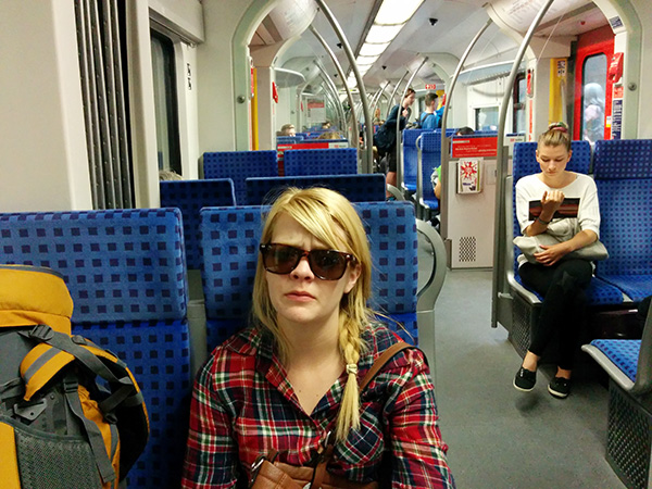 Nicole did not enjoy the train to the Munich AirBnB