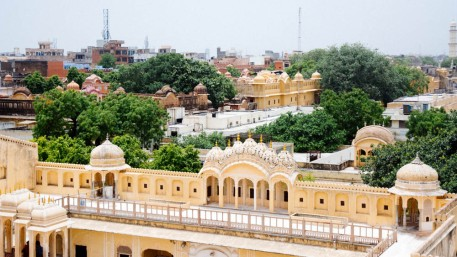 A view from the roof of Hawa Mahal