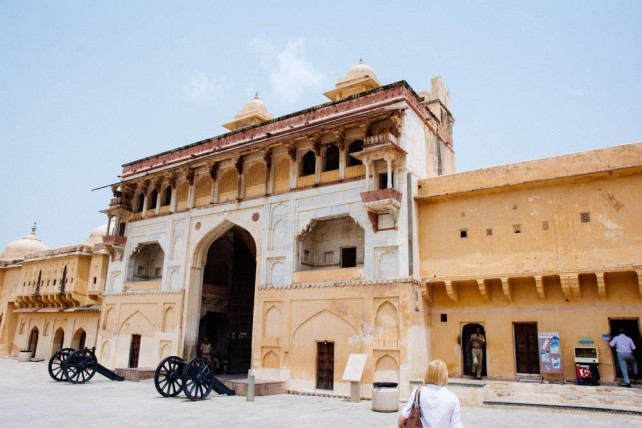 The entrance to Amber Palace
