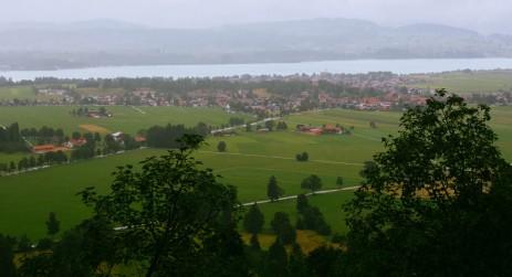 The view of Fussen from Neuschwanstein