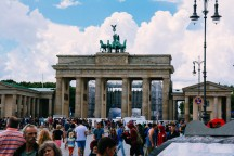 Brandenburg Gate and tourists