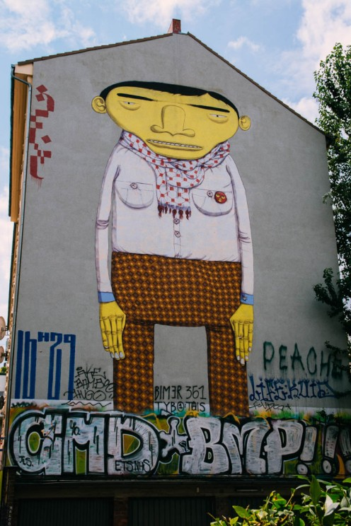 Mural by Os Gêmeos, portugese twin brothers