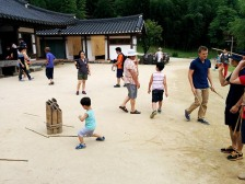 Traditional Korean Stick Game (no one is good at this game)