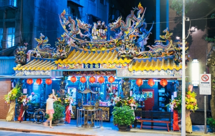 A temple near the night market