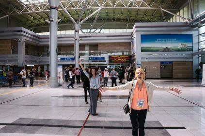 Nicole and Kiana in Dorasan Station