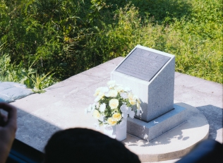 Memorial from a grizzly axe murder by North Korea soldiers on South Korea soldiers