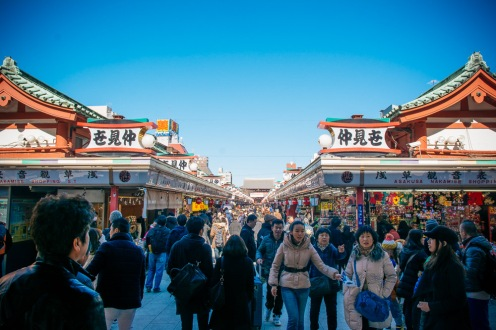 Shopping area in front of Sensoji