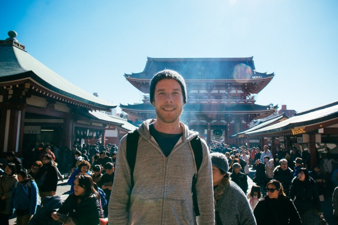 Me in front of Hozōmon