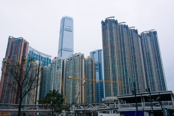Skyscrapers across the street from our hotel