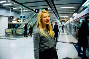 Taking the subway to the gondola