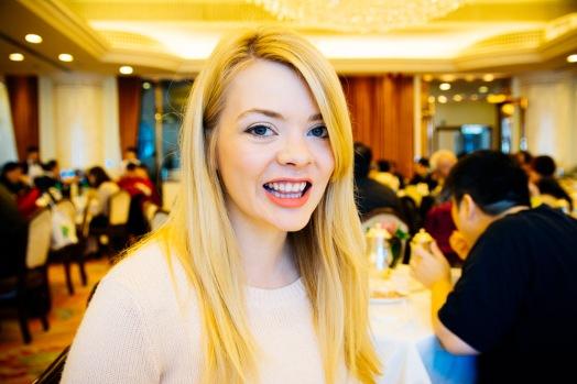 Nicole at Dim Sum